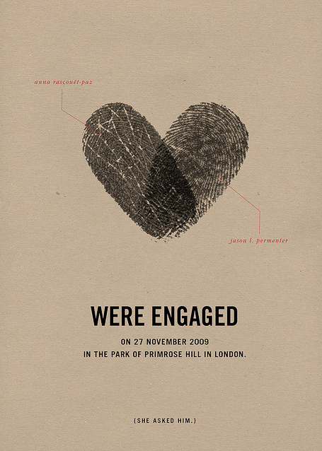 cute we re engaged announcement card meandyoulookbook
