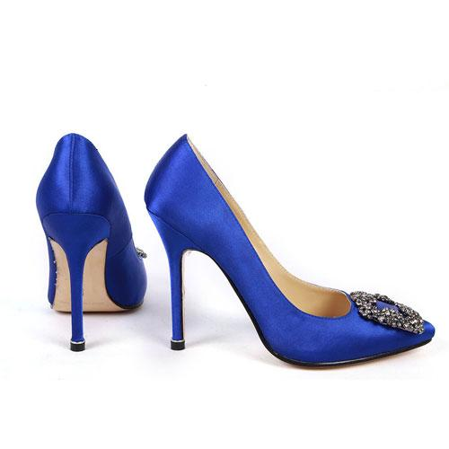 These gorgeous royal blue pumps played an important role in the sex