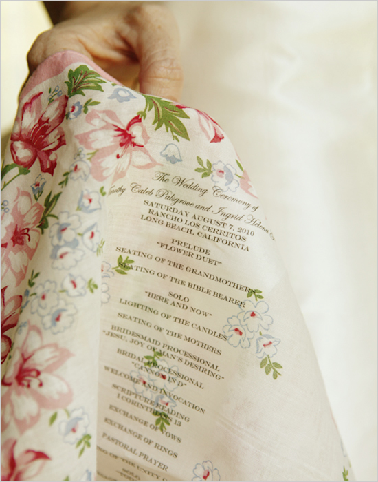 Gorgeous Handkerchief Wedding Program