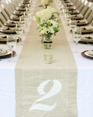 Unique wedding table numbers meandyoulookbook - Mesas con manteles ...
