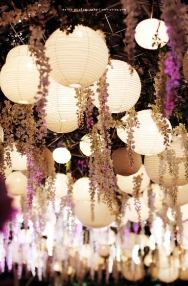 Hanging Lanterns and Flowers | meandyoulookbook