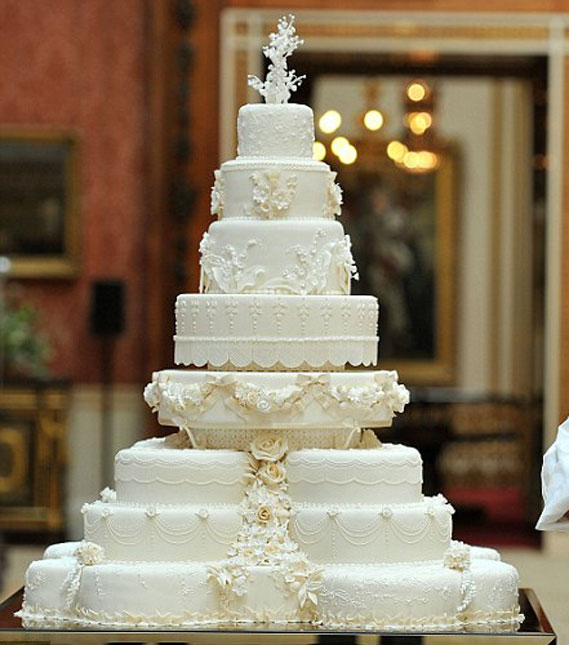 British Royal Wedding Cakes: Kate Middleton And Prince William's Wedding Cake