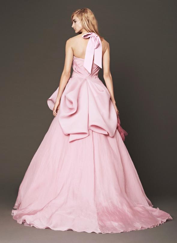 Vera wang s pink fall 2014 bridal collection for Pink vera wang wedding dresses